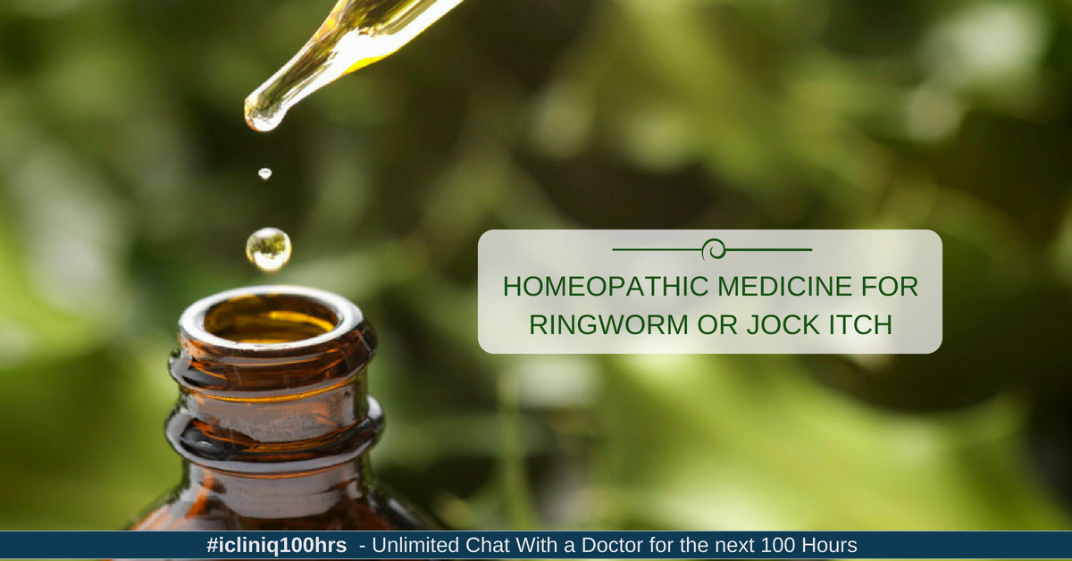 Homeopathic Medicine for Ringworm or Jock Itch