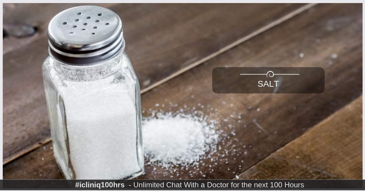 Image: How Much Salt Should One Person Have?