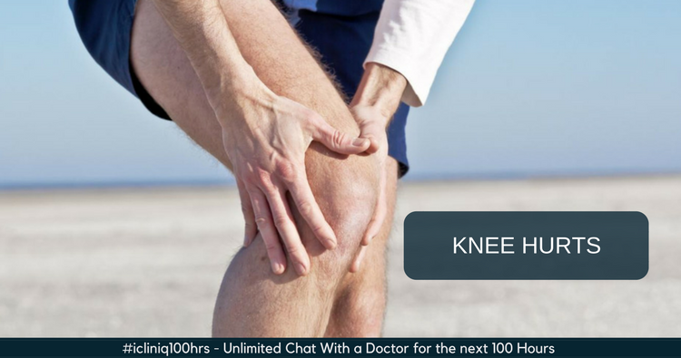 After a fall, my knee hurts when I kneel. Is there anything to worry?
