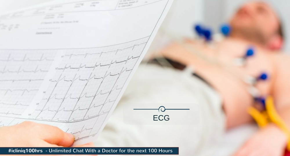 Can ECG changes occur due to anxiety?