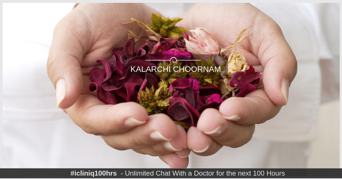 Can Kalarchi choornam be taken for fallopian tube blocks?