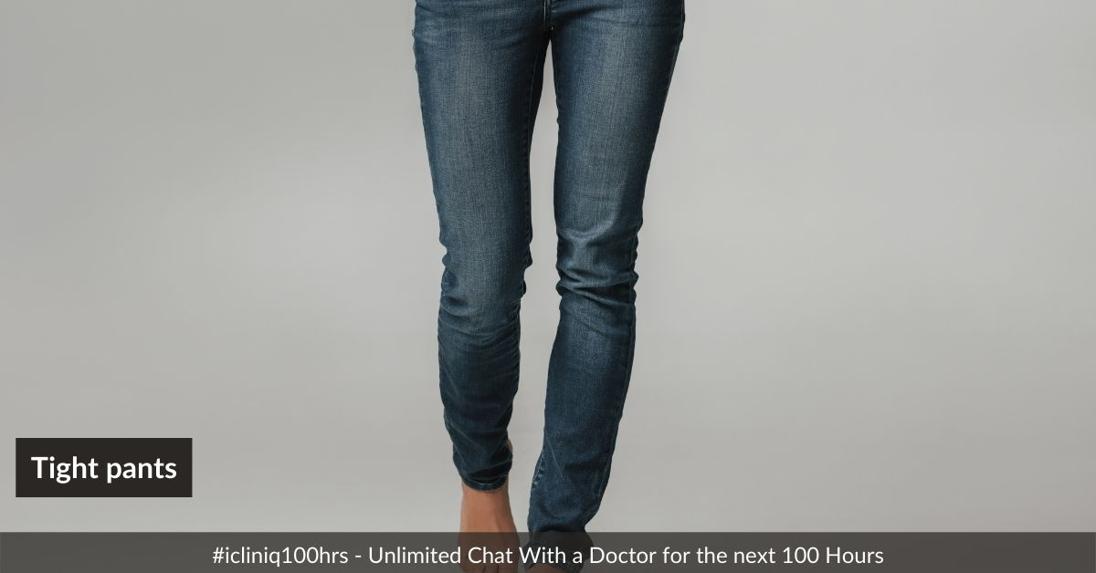 Can wearing of tight pants cause pain in the testicle?