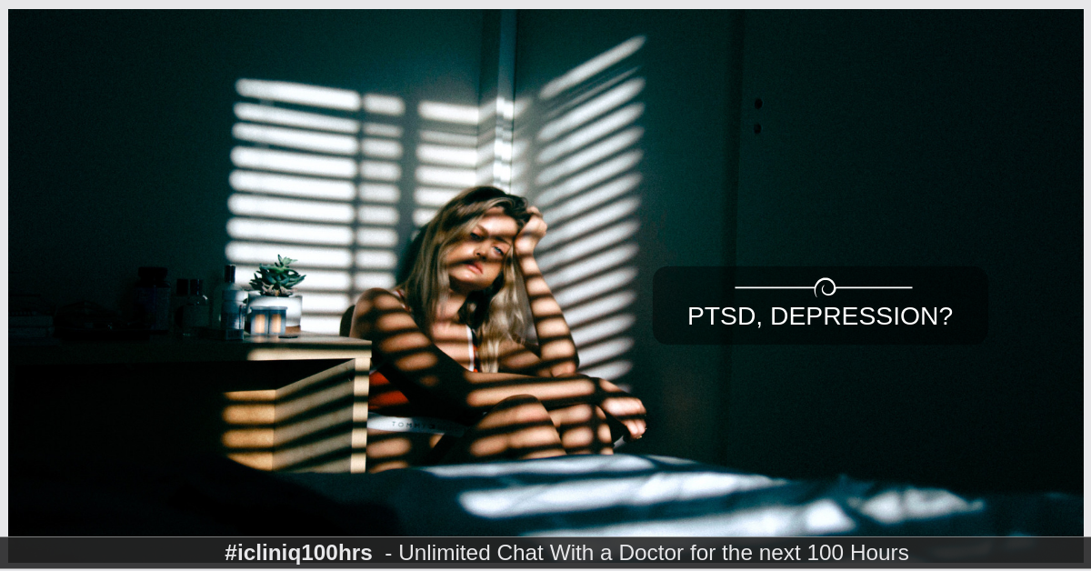 Image: How can a person with PTSD, depression and anxiety be treated?