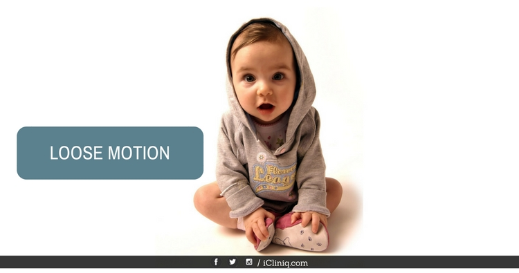 How to control loose motions in a 1 month old baby?