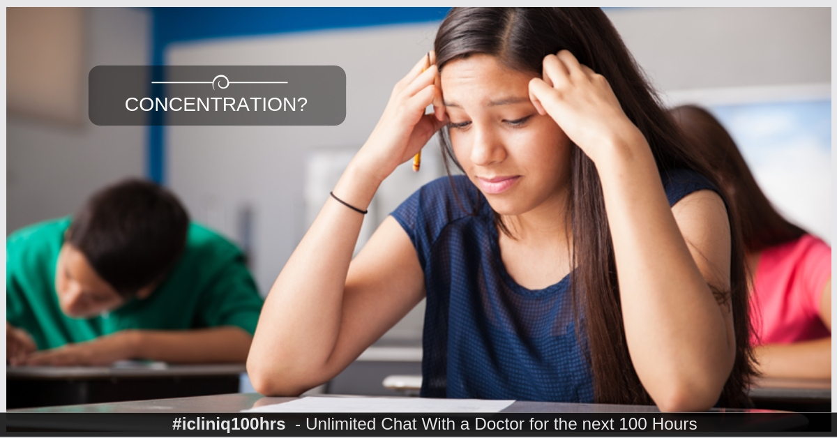 Image: I am not able to concentrate in the class or studies.  Please help.