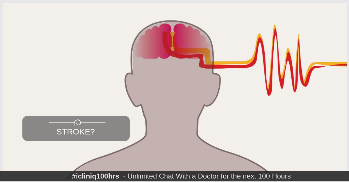Image: Is stroke along with bleeding inside brain worrisome?