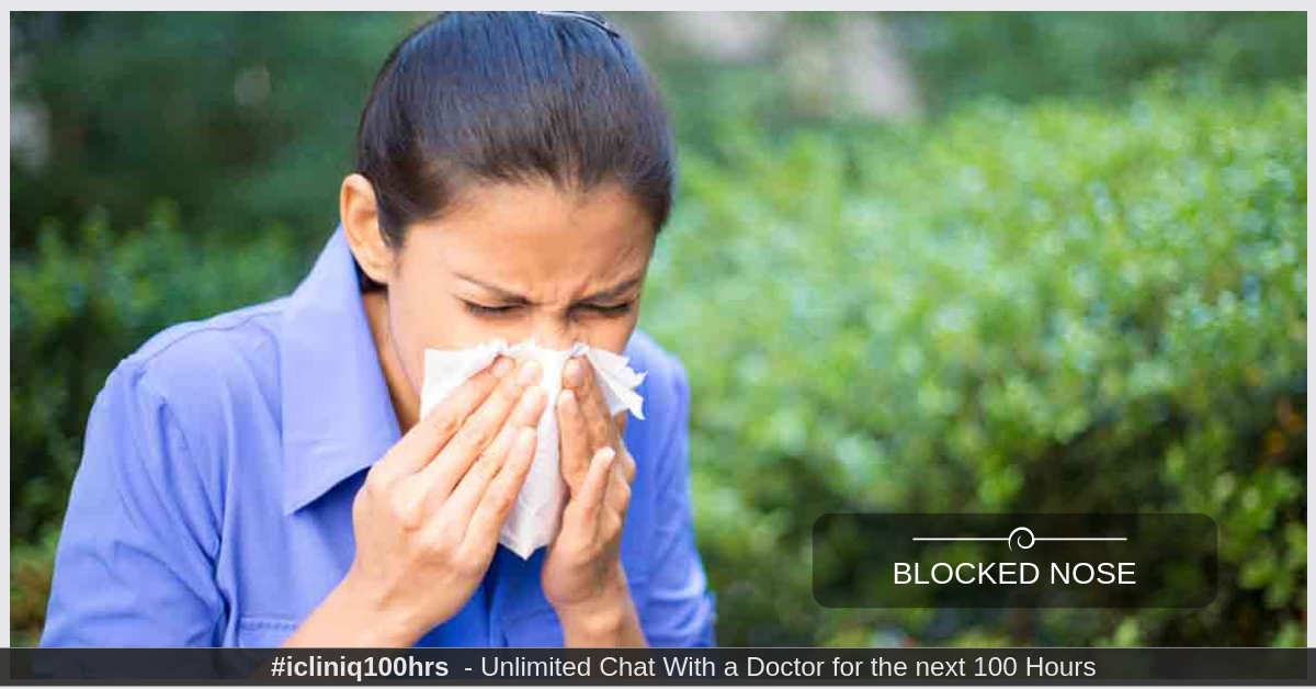 Image: My nose is always blocked and has mucus.  Kindly help.