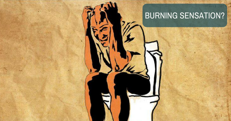Burning anus after pooping not