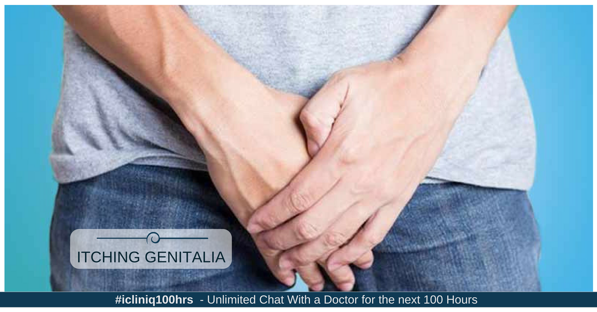 Image: What is the reason for severe itch in genitals and the surrounding area?