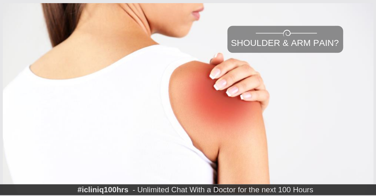 Image: What is the reason for shoulder and arm pain?