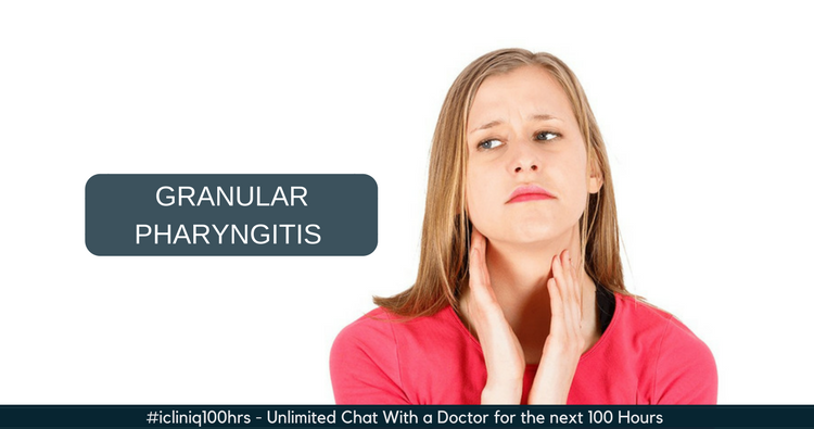 What is the treatment for granular pharyngitis and tonsillitis?