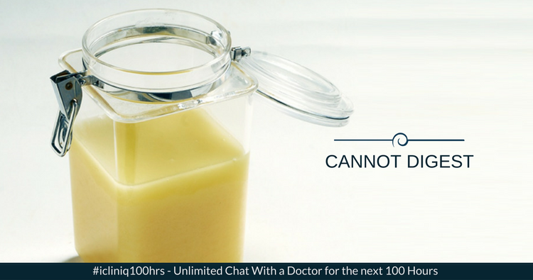 Image: Why am I not able to digest milk and ghee?